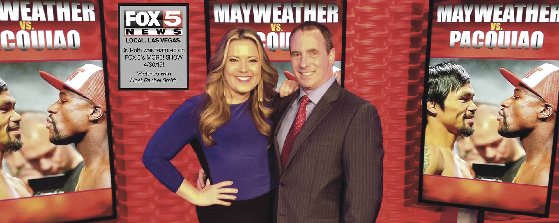 "Dr. Roth was interviewed on Fox 5's MORE! SHOW about his role as ""The Plastic Surgeon to Champions"" in light of the upcoming Mayweather / Pacquiao fight!"