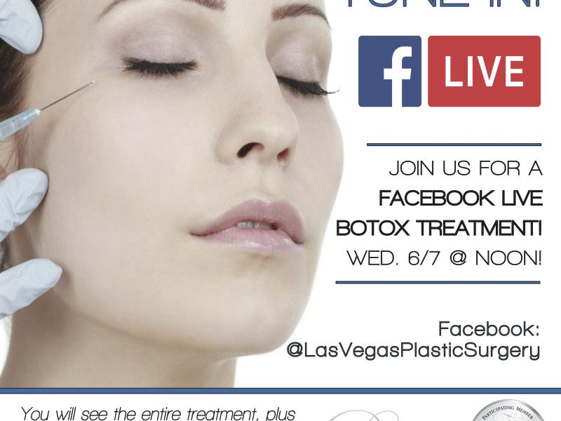 Join Us For a FaceBook LIVE! Botox Treatment!