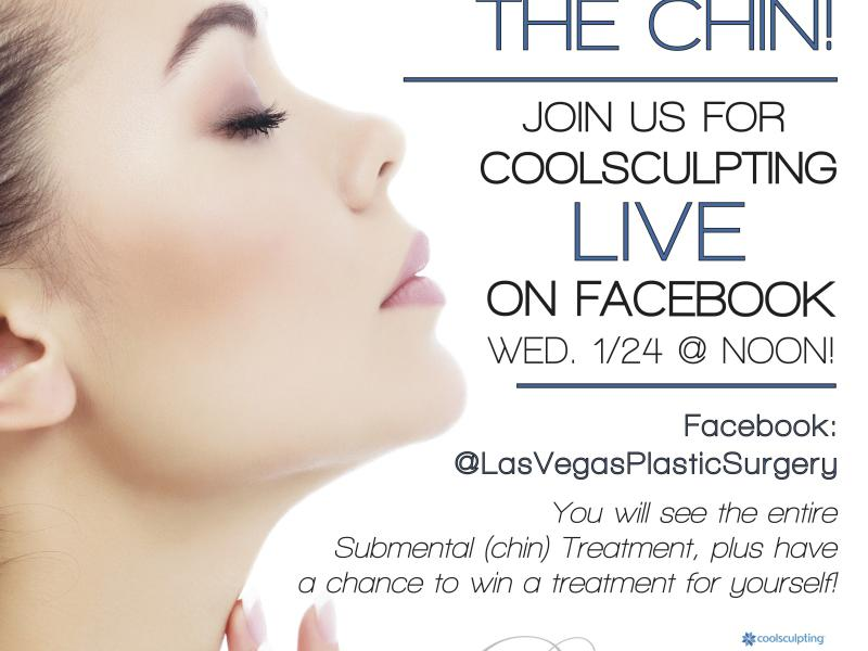 Join Us For a FaceBook LIVE! CHIN Coolsculpting Treatment!
