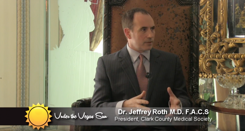 "Dr. Roth interviewed for ""Under the Vegas Sun"" by the legendary Steve Schorr!"