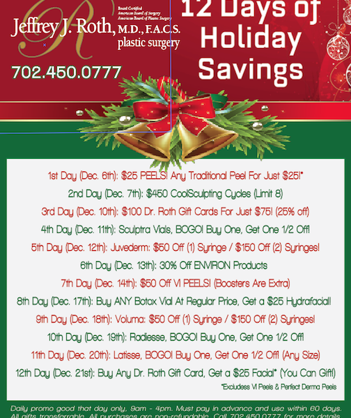 """12 DAYS OF HOLIDAY SAVINGS"" STARTS THURS. DEC. 6TH!"